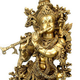 Lord Krishna as Venugopal - Brass Sculpture