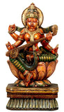 Maa Saraswati - Wood Sculpture