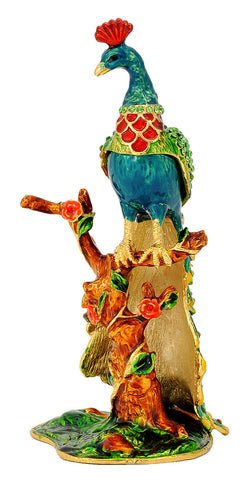 Colorful Metal Peacock Statue for Home Decoration