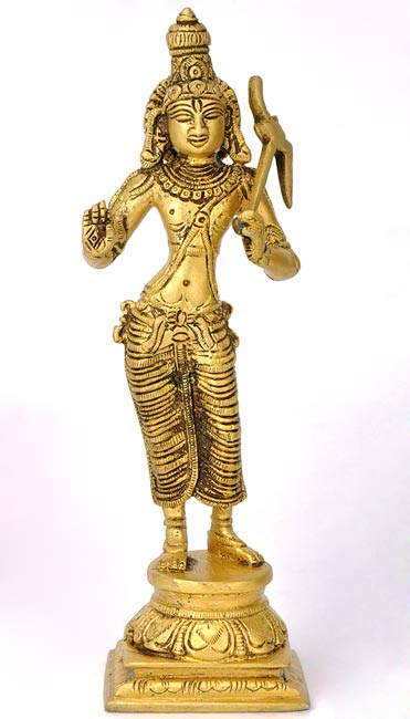 "Avatar of Lord Vishnu ""Mighty Balarama"" Brass Statue"