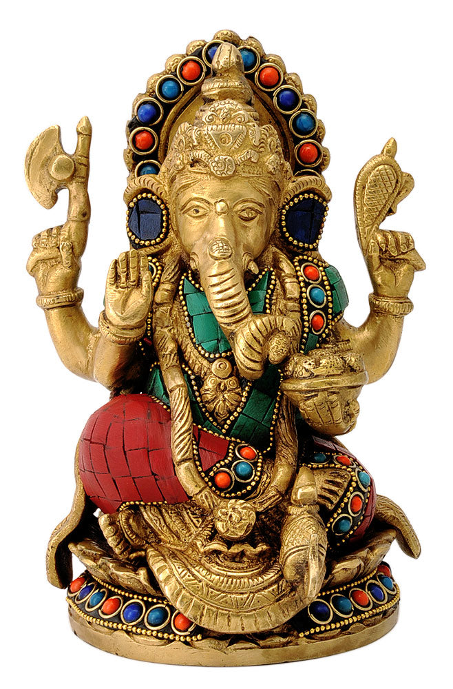 Decorative Chaturbhuja Ganpati ji