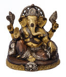 Beautiful God Ganesha - Brass Statue 6""