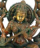 Goddess Saraswati - Fine Brass Sculpture
