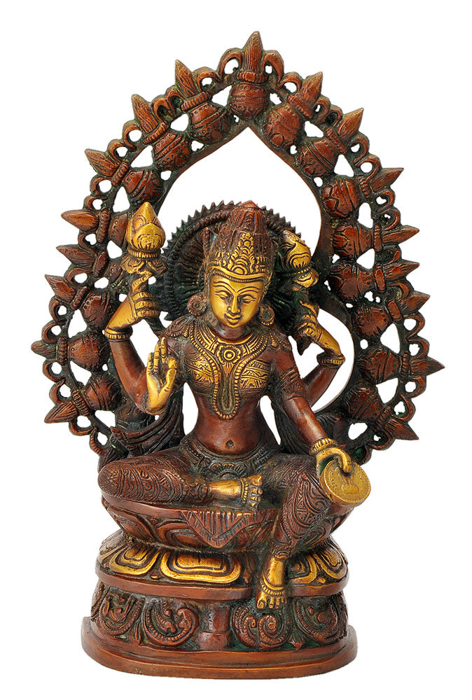 Lakshmi Ma Seated on Throne 10.50""