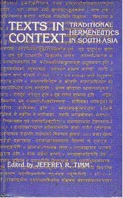 Texts in Concept: Traditional Hermeneutics in South Asia Carpenter, David and et al