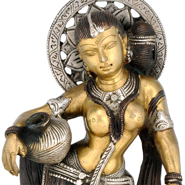 Standing Lady with Pot - Brass Statue