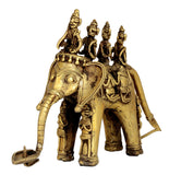 Elephant Riders - Folksrt Dhokra Lost Wax Casting Sculpture