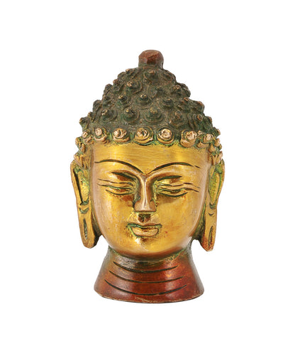 Serene Buddha Brass Sculpture in Brown Finish
