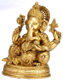Resting Ganapati - Brass Sculpture