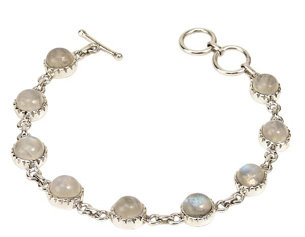 Mejestic Nine - Rainbow Moonstone Bracelet