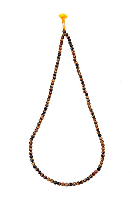 Tiger Eye Stone Japa Mala 108+1 Beads