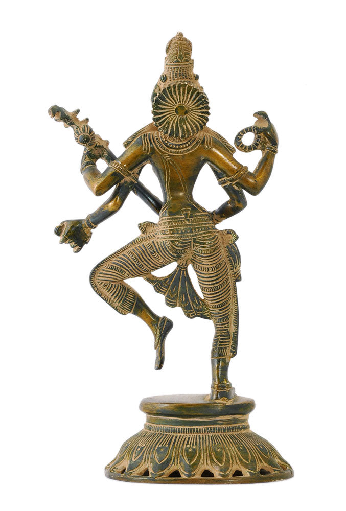 Devi Saraswati Playing Veena Antiquated Statue