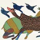 Bird and Animal - Gond Folkart Panting