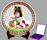 Baby Krishna Makhan Chor - Marble Painting