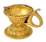 Brass Oil Lamp Diya with Handle