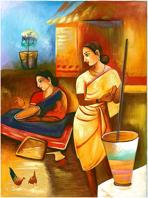 Golden Morning - Silk Painting