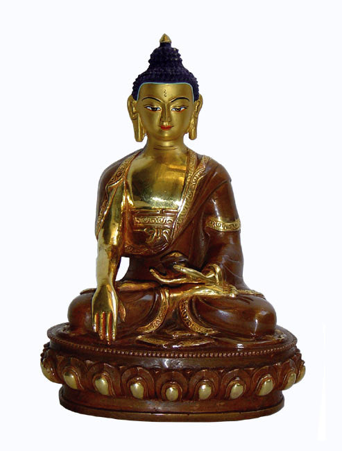 Shakyamuni Buddha-Gold Gilded Sculpture 8""