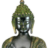 Bhumisparsha Buddha - Oxidized Brass Sculpture