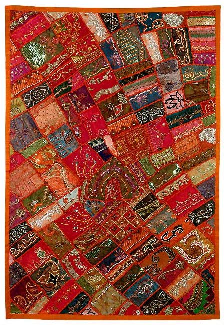 Patch Work Tapestry - Land of Red Sand