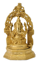 Seated God Vinayaka Brass Sculpture