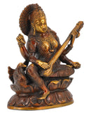 Brass Saraswati Copper Red Finish