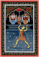 Adoration of Lord Jagannath by Mahaprabhu