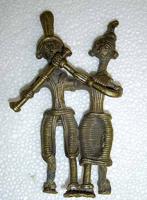 Brass Sculpture-Couple 5.5""