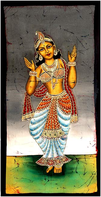 Apsara 'The Nymph' Batik Painting