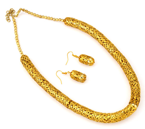 Golden Radiance - Metal Necklace