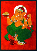 The Ultimate Dance of Nataraja Ganesha - Batik Print