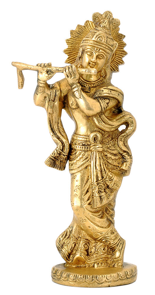 God Krishna Playing Flute