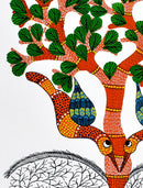 Gond Folkart Panting 'Tree of Life'