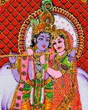 The Divine Lovers Radha Krishna Cotton Painting