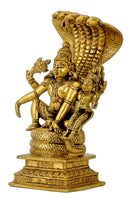 Lord Vishnu Lakshmi Seated on Ananta Shesha