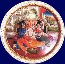 "Ganesha with Wives ""Riddhi Siddhi"""