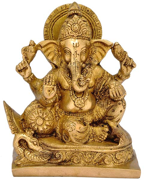 Beloved Ganesha - Brass Statue
