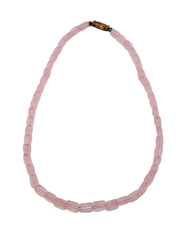 Handmade Rose Quartz Necklace 'Rozy Charm'