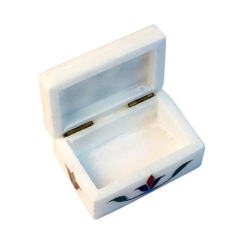 Alabaster Stone Inlay Box