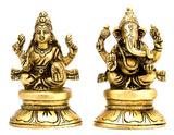 Laxmi Ganesh - Brass Idols for Puja House
