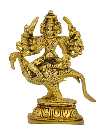 Kartikeya Seated on Peacock 5""