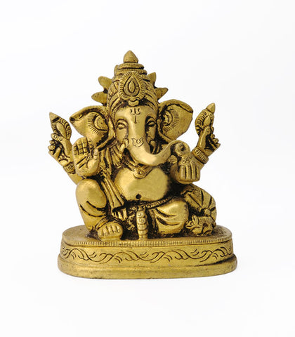 King Ganesha - Brass Statue