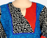 Blue Printed Cotton Kurta