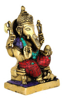 Lord Vinayak Brass Sculpture 8""
