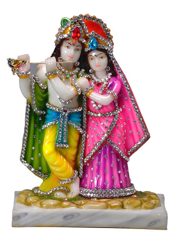 Shree Radhe Shyam - Resin Statue