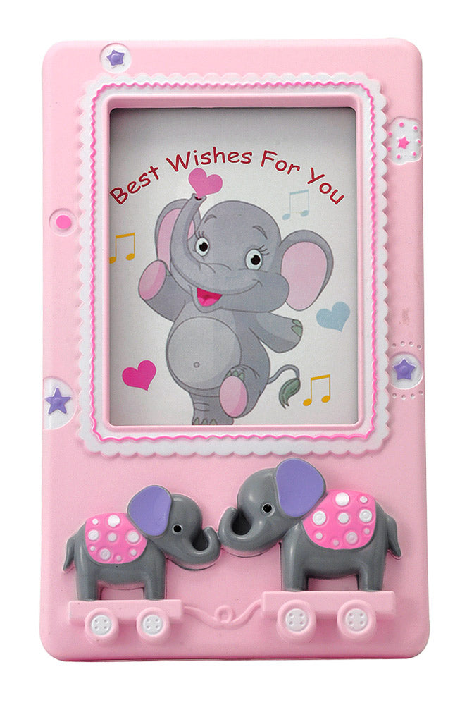 'Little Elephants' Baby Pink Photo Frame