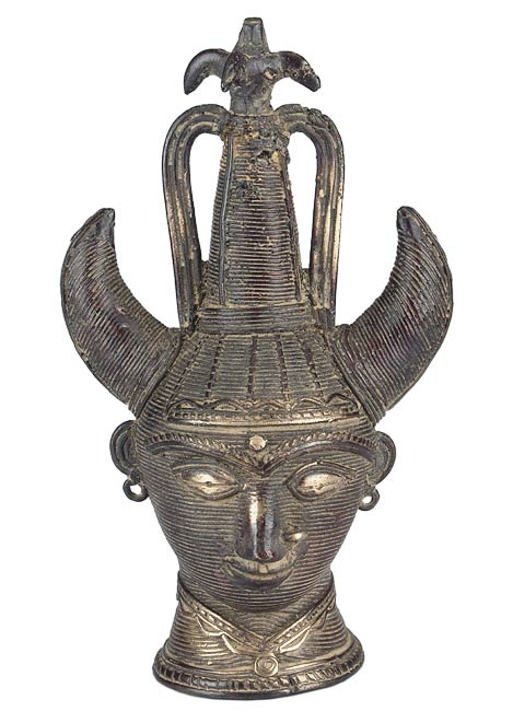 Tribal Princess - Brass Dhokra Statue