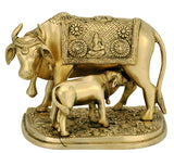Cow and Her Calf - Brass Sculpture