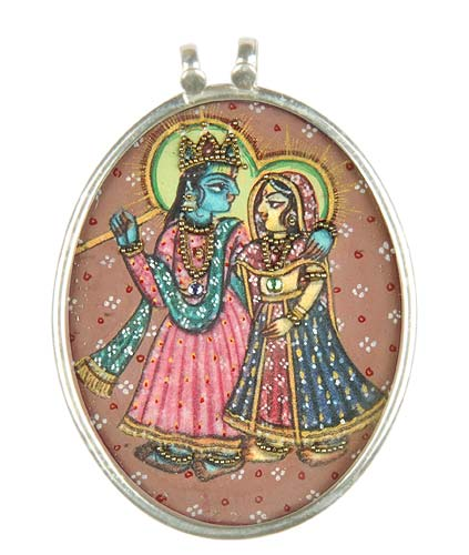 Sri Krisna with Radha Rani - Pendant