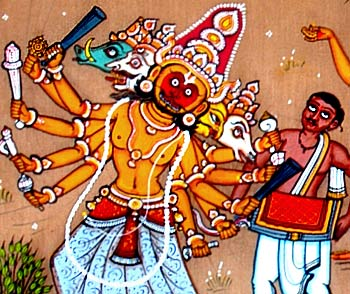 Festival Celebration in Village - Pata Painting