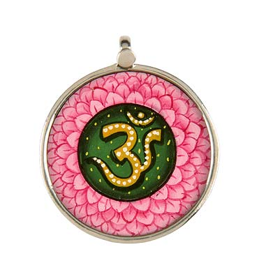 'Aum' The Sacred Word - Hand Painted Pendant